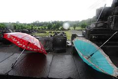 BJN_4535 umbrellas (Brunocerous) Tags: travel indonesia temple ruins asia southeastasia umbrellas hindu prambanan centraljava