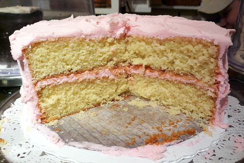 Amy's Bread Yellow Cake with Pink Frosting