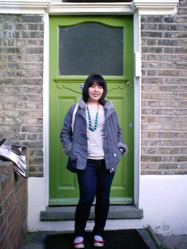 Jamie at her front door