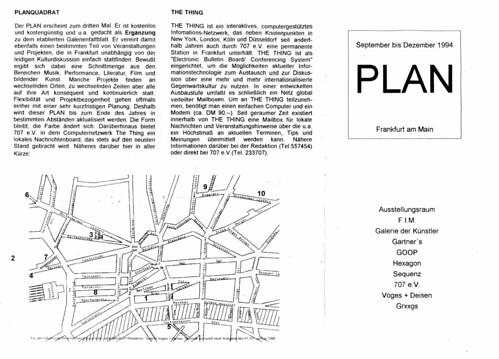 Faltblatt Plan Frankfurt 1994