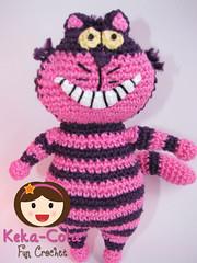 Cheshire The Cat (Keka-Cola) Tags: toys cheshire alice crochet amigurumi wonderland coelho whiterabbit chesire keka kekacola gatorisonho paisdamaravilhas