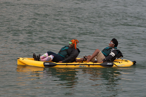 lazy sea kayakers