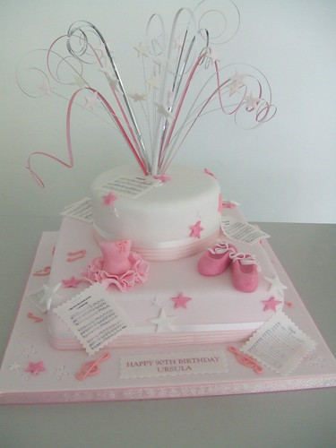 CAKE - BALLET THEME FOR A 90TH BIRTHDAY