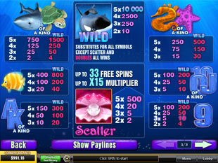 free Great Blue slot mini symbol