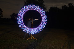 Light Stand (Dennis Calvert) Tags: lightpainting make circle diy tool lightart paintroller