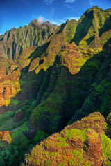 "Na Pali Coast aerial - Kauai, Hawaii #3 (IronRodArt - Royce Bair (""Star Shooter"")) Tags: ocean park travel blue sea vacation cliff holiday mountains green tourism nature water beautiful landscape island hawaii bay coast high colorful paradise pacific scenic dramatic wave peak landmark lookout canyon aerial na hills coastal shore kauai hawaiian tropical vista coastline peaks pali majestic untouched volcanic napali jurassic rugged steep pristine"