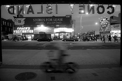.dnalsi yenoc (Vitaliy P.) Tags: new york city nyc motion blur cars chicken bike sign brooklyn speed island for kid nikon long hand slow meetup explore riding shutter parked gothamist held coney popeyes stores cabs lease explored d80 18135mm fortheloveofbrooklyn vitaliyp ftlob ftlob0510