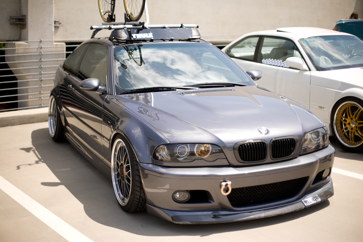 Oem Bmw E46 Roof Rack With Thule Faring And Bike Rack