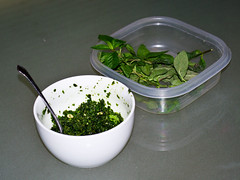 Homemade Mint Pesto