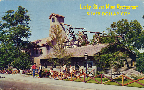 Silver Dollar City Postcard - Lucky Silver Mine Restaurant