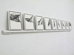 Flaggen by Gert-Jan Akerboom at the Vorwaerts! Exhibition (Kunstraum Richard Sorge) Tags: berlin art ink drawing communism fahne flagge socialism zeichnung tekening erstermai galerierundgang berlingalleryweekend kunstraumrichardsorge gertjanakerboom