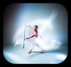Duet with Light (Ben Canales) Tags: longexposure light ballet lightpainting painting lights dance ballerina dancing traditional dancer tights step strobe bencanales