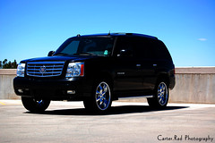 Escalade (Carter.Rad) Tags: auto black cars gm wheels cadillac vehicles chrome 20 rims showcase escalade