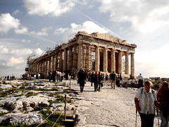Still Stand. (Manos Eleftheroglou (Photography)) Tags: city blue sky people history beautiful ancient europe scenic scene athens parthenon greece acropolis theather akropolis  cistyscape    makisamos
