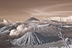 Mount Bromo and Mount Semeru Indonesia (SKI968) Tags: indonesia ir infrared surabaya bromo semeru mountbromo mountsemeru eastjava