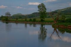 Reflection (Karmen Smolnikar) Tags: trees houses reflection water river hill slovenia slovenija krka kostanjevicanakrki yourwonderland