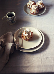 Mini Lemon Meringue Tarts 2 (katiequinndavies) Tags: light coffee cake dessert lemon sweet rustic fork pastry dreamy tart simple meringue atmospheric decadent tartlet