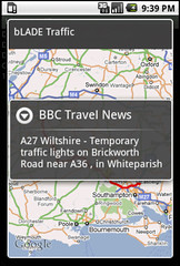 UK traffic for Android - a traffic report map