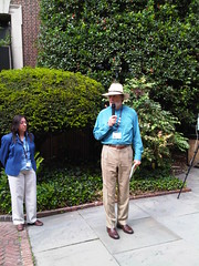 Dr. Robert Hicks at the Benjamin Rush Medicinal Plant Garden