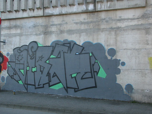 Ruten legal graffiti wall in Sandnes