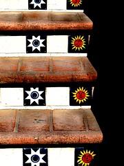 cosmic climb (msdonnalee) Tags: stairs tile mexico shadows steps stairway treppe escalera staircase mexique scala escada escalier mexiko treppen escala   tilestairs  photosfromsanmigueldeallende fotosdesanmigueldeallende
