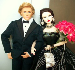 Talk  of  the  Town (napudollworld) Tags: black fashion festive james ooak von ken barbie harley tuxedo bond agnes gown davidson weiss royalty decadence pivotal baronness