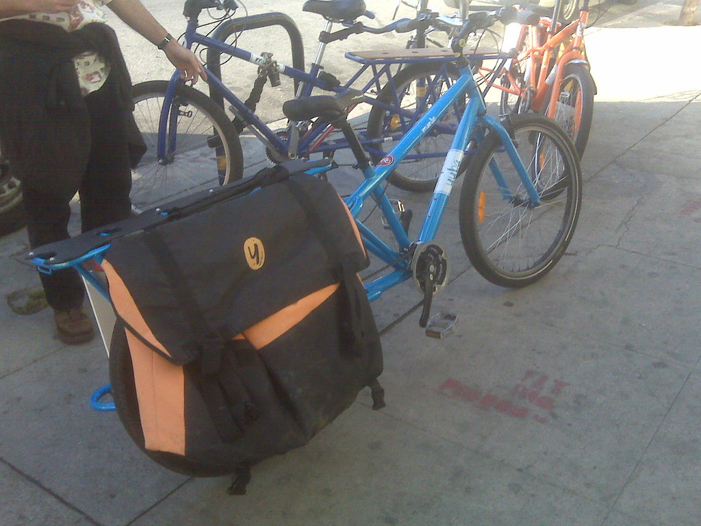 This bike, sans bags, is now available for sale at Flying Pigeon LA.