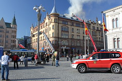 Onlookers (Hannhell) Tags: people fire serious drama tampere firefighters onlookers