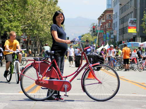 Mana and her Batavus Oma Fiets