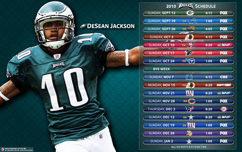 2010 Philadelphia Eagles Schedule - DeSean Jackson