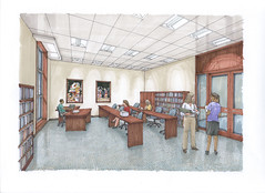 Research room small (utwebteam) Tags: building campus baker tour exterior amy interior renderings drawings center facilities blakely bakercenter prdrop