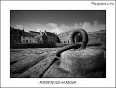 Old Harbour Portsoy (imgrieve) Tags: sea blackandwhite bw scotland aberdeenshire harbour oldharbour portsoy blackwhitephotos shorehead