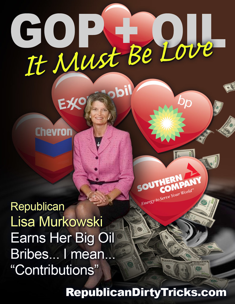 GOP Lisa Murkowski and Oil It Must be Love Image