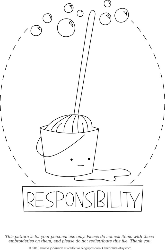 responsibility coloring pages - photo#17