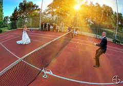 Play more (A.G. Photographe) Tags: wedding france nikon married marriage tennis ag nikkor mariage justmarried weddingday franais hdr racket raquette anto xiii marie mari 16mmfisheye hdr1raw d700 agphotographe