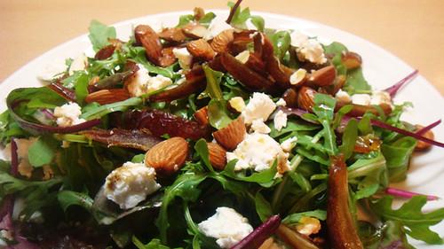 Almond, ewe's cheese & date salad