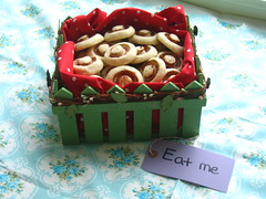 Shortbread Mushroom Cookies (Ode to Inspiration) Tags: red green cookies mushrooms polkadots eatme teatime teaparty whimsical aliceinwonderland teabiscuits shortbreadcookie
