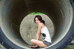 (Funstyle) Tags: portrait woman cute girl beauty model nikon asia taiwan sigma babe taipei  fx 2010 peopel      2470 mikako   difocus d700