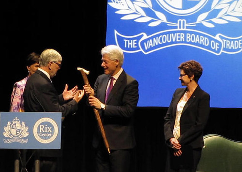 Former U.S. President Bill Clinton spoke at Vancouver Board of Trade and Q&A with Carole Taylor