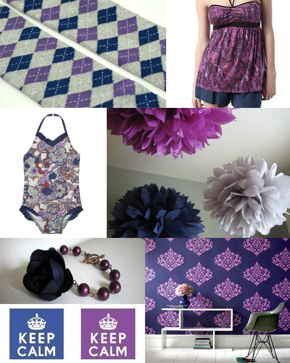 Kitschicagoan Midnight & Violet Mood Board