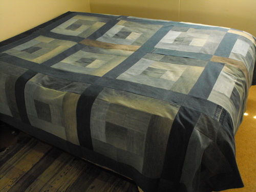Recycled Jeans Quilt Top