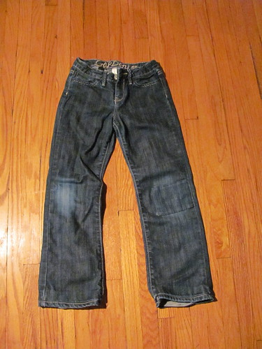Repaired jeans