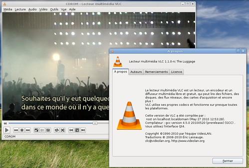 Wish en concert avec les sous-titres français dans VLC 1.1.0rc2