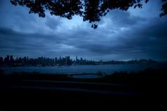 the storm (mudpig) Tags: city nyc newyorkcity longexposure ny newyork storm skyline geotagged hotel newjersey cityscape newyorker esb bankofamerica hudsonriver empirestatebuilding chryslerbuilding weehawken unionhill mudpig stevekelley onepenn