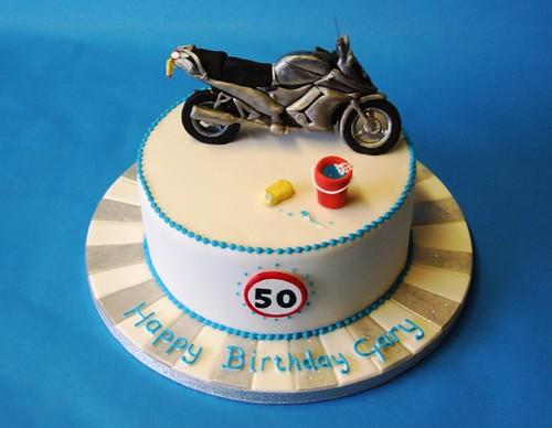 Motorbike 50th Cake