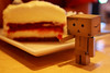 #4b/365: red velvet cheesecake (tinybeans) Tags: cute japan dessert toy toys sweet box cheesecake plastic cardboard cheesecakefactory pvc redvelvet danbo caje amazoncojp revoltech redvelvetcheesecake danboard revoltechdanboard