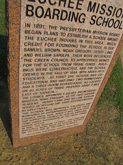 Euchee Mission Boarding School Marker