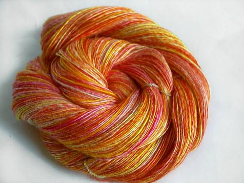 COLORBOMB 'Hottie' Singleton handspun yarn