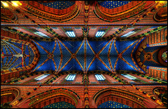 Ceiling of Koscial Mariacki (nabilishes [on and off]) Tags: basilica poland krakow unesco polen vault krakw cracow hdr stmarysbasilica 3xp tonemapped kocimariacki nabilishes