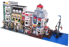 Port Seaside (lgorlando) Tags: ocean city sea port town lego modular greengrocer cafecorner